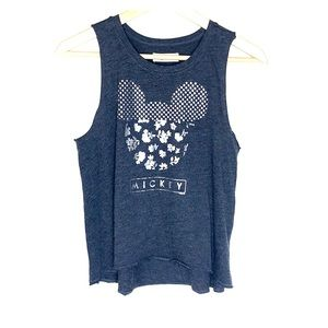 Youth Sleeveless Grey Abercrombie Mickey Shirt